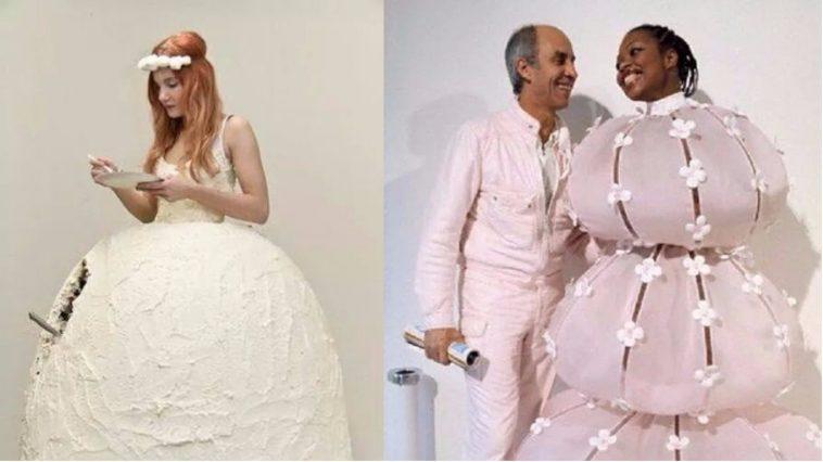 bizarre wedding dresses
