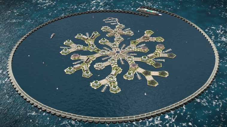 worlds first floating city